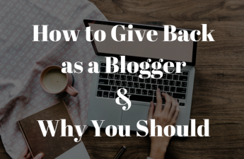 blogging and giving back