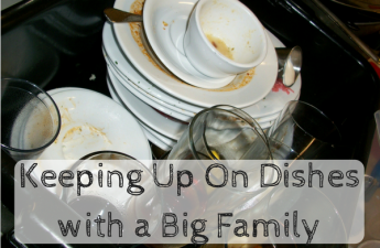 dishes and a big family