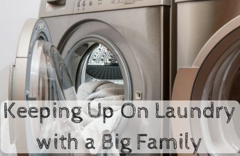 keep on laundry for a big family