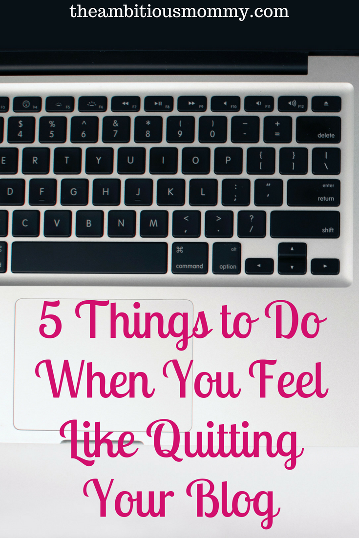 before you quit your blog